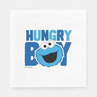 Serviettes En Papier Monstre affamé de biscuit
