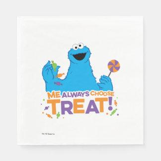 Serviettes En Papier Monstre de biscuit - je choisit toujours le festin
