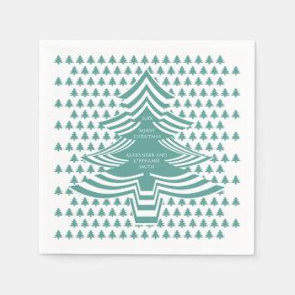 Serviettes En Papier Motif d'arbre de police d'image Noël