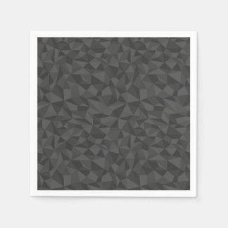 Serviettes En Papier Motif de mosaïque d'abrégé sur gris de charbon de