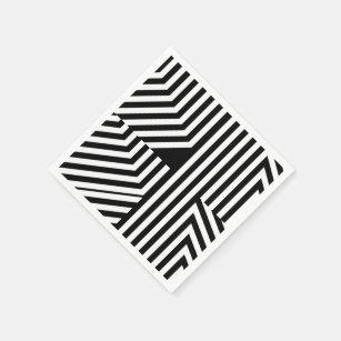 serviettes en papier motif blanc. Black Bedroom Furniture Sets. Home Design Ideas