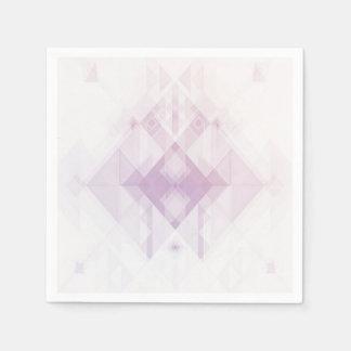 Serviettes En Papier Motif géométrique rose-clair