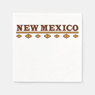 Serviettes En Papier Motif indigène du Nouveau Mexique