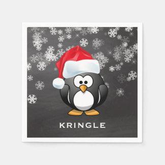 Serviettes En Papier Noël mignon de tableau de flocons de neige de Père
