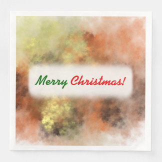 Serviettes En Papier Noël ; Orange, jaune et gris Brume-Comme le motif