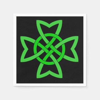 Serviettes En Papier Noeud celtique vert irlandais