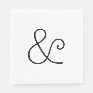 Serviettes En Papier Noir américain d'impression typographique de