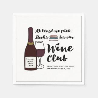 Serviettes En Papier Nuit drôle de filles de club de vin de boissons du