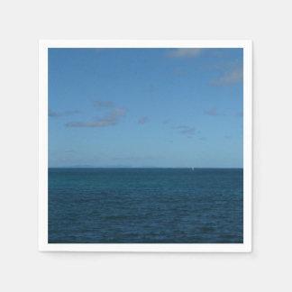 Serviettes En Papier Océan de bleu d'horizon du St Lucia