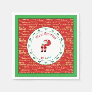 Serviettes En Papier Ondulation de Père Noël de Joyeux Noël