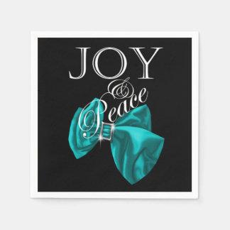 Serviettes En Papier paix bleue de joie de ruban