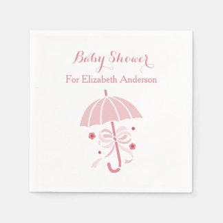 Serviettes En Papier Parapluie rose mignon de baby shower Girly avec