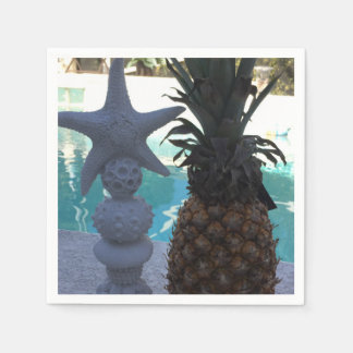 Serviettes En Papier Partie d'ananas et d'étoiles de mer