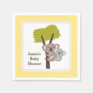 Serviettes En Papier Partie de baby shower mignonne d'ours de koala de