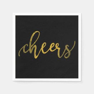 Serviettes En Papier Partie de nouvelle année de feuille d'or de Faux -