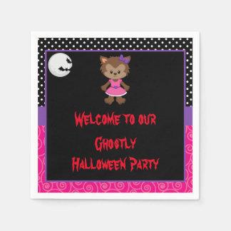 Serviettes En Papier Partie mignonne de Halloween de fille de