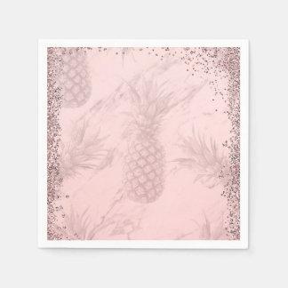 Serviettes En Papier Partie tropicale d'ananas de parties scintillantes