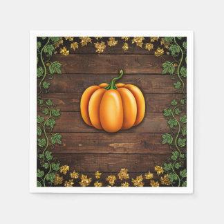 Serviettes En Papier Pays rustique d'automne de lierre d'or vert de