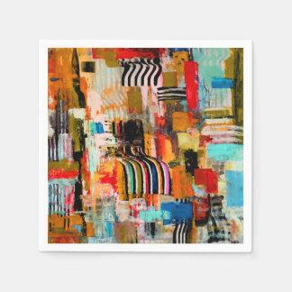 Serviettes En Papier Peinture abstraite colorée mignonne