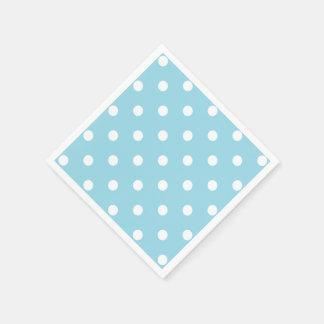 Serviettes En Papier Pois bleu