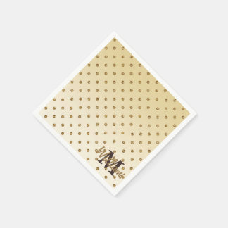 Serviettes En Papier Pois brillant impressionnant d'or de scintillement