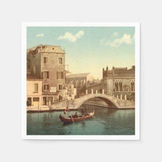 Serviettes En Papier Pont et canal, Venise, Italie