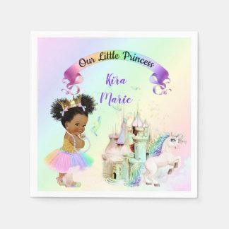 Serviettes En Papier Princesse magique Castle Unicorn d'arc-en-ciel