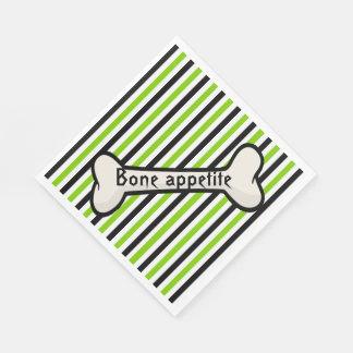 Serviettes En Papier Rayures et serviettes de papier de Halloween d'os