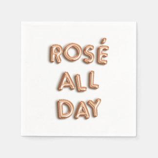 Serviettes En Papier Rosé toute la journée