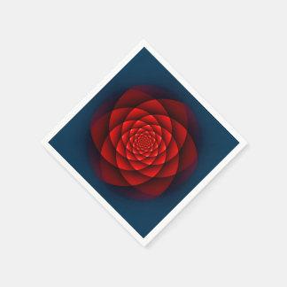 Serviettes En Papier Rouge de ROSE de kaléidoscope