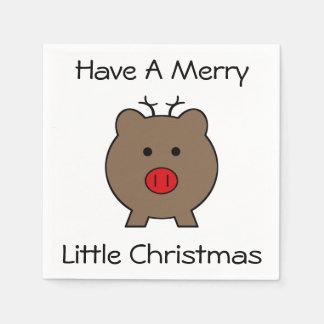Serviettes En Papier Roy le porc de Noël