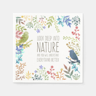 Serviettes En Papier Serviette de la citation inspirée par nature