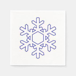 Serviettes En Papier Serviette de papier de flocon de neige
