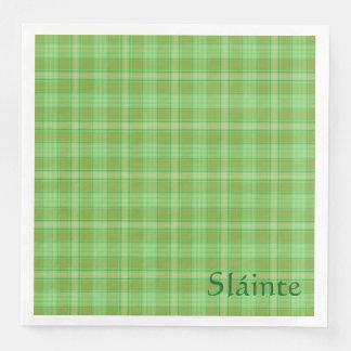 Serviettes En Papier Serviette du jour de St Patrick, vert irlandais de