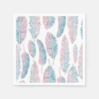 Serviettes En Papier Serviette tribale colorée du motif | de plume