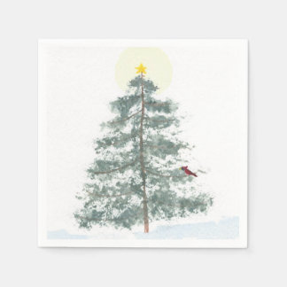 Serviettes En Papier Serviettes d'arbre de Noël