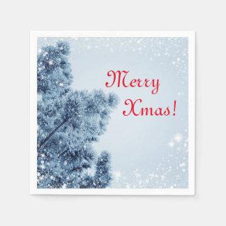 Serviettes En Papier Serviettes de Noël de rouge bleu, Noël du pays des
