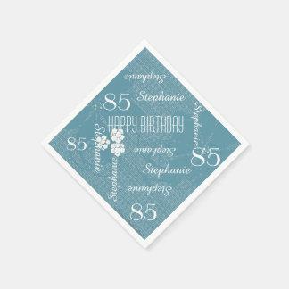 Serviettes En Papier Serviettes de papier, 85th fête d'anniversaire,