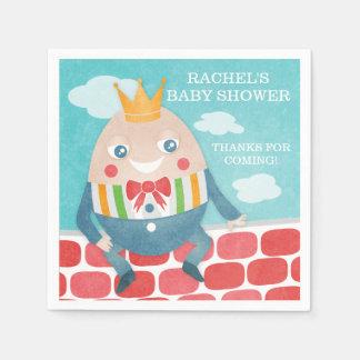 Serviettes En Papier Serviettes de papier de baby shower coloré de