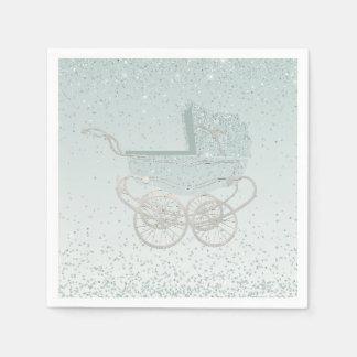 Serviettes En Papier Serviettes de papier de baby shower en pastel de