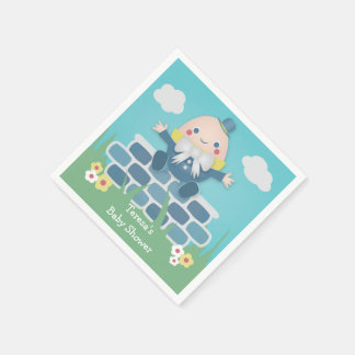 Serviettes En Papier Serviettes de papier de baby shower mignon de