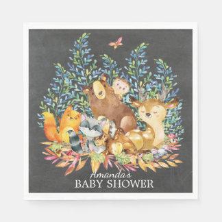 Serviettes En Papier Serviettes de papier de baby shower neutre