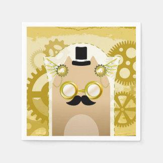 Serviettes En Papier Serviettes de papier de cocktail de chat de