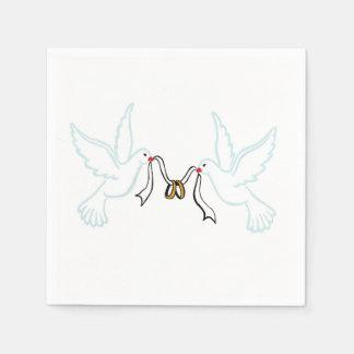 Serviettes En Papier Serviettes de papier de cocktail d'or d'anneaux de