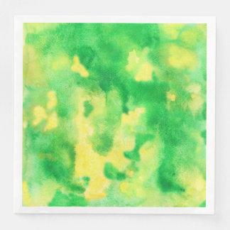 Serviettes En Papier Serviettes de papier de dîner d'aquarelle de vert