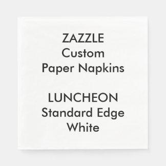 Serviettes En Papier Serviettes de papier de grand déjeuner BLANC fait