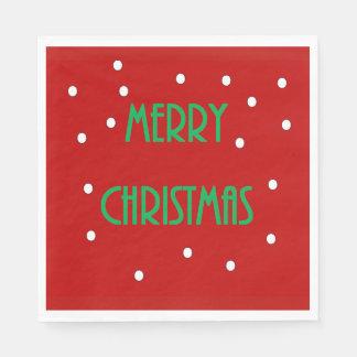 Serviettes En Papier Serviettes de papier de Joyeux Noël