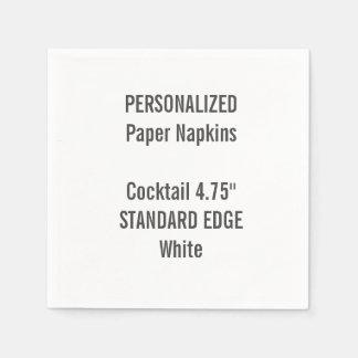 Serviettes En Papier Serviettes de papier personnalisées de cocktail