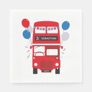 Serviettes En Papier Serviettes de papier personnalisées par autobus