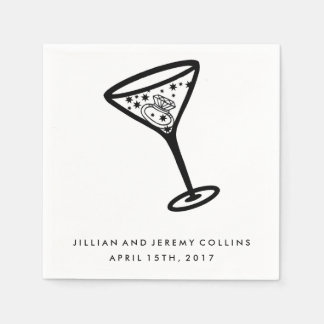 Serviettes En Papier Serviettes en verre de fiançailles ou de mariage